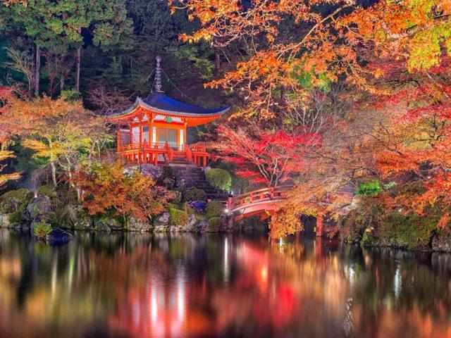 Autunno in giappone presso il tempio Daijo-ji - Watabi