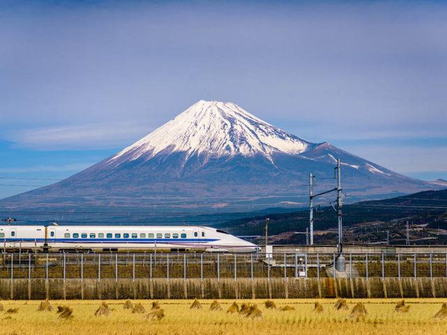 Treni giapponesi e Monte Fuji - Watabi