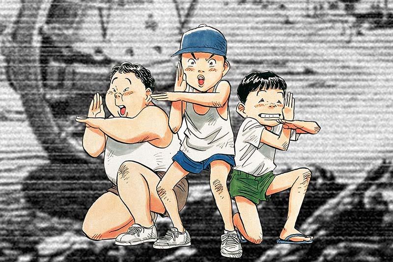 i protagonisti di 20th century boys del mangaka Naoki Urasawa