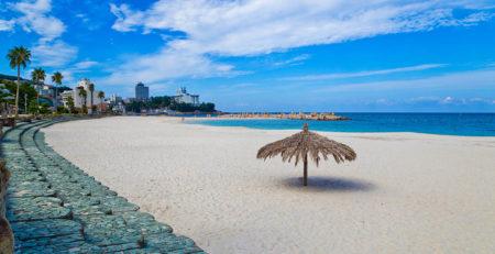 Ombrellone su una spiaggia giapponese - Watabi