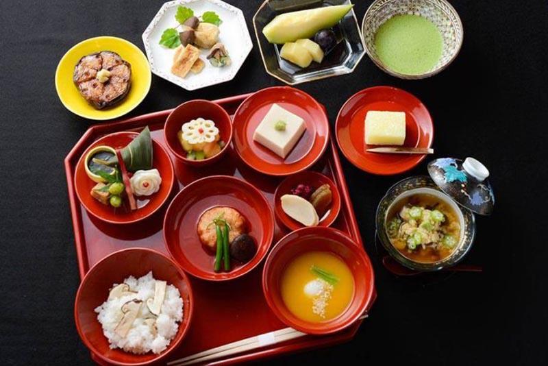 foto del pranzo vegetariano di shigetsu a kyoto