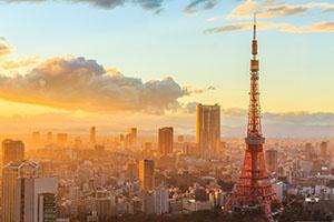 la tokyo tower vista al tramonto