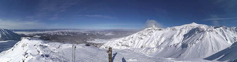 panoramica di furano dal monte sandan