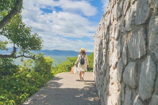 camminare a naoshima