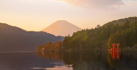 vista del monte fuji da Hakone